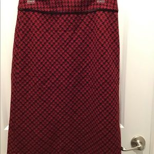 Skirt, Size 8, Red/Black, Ann Taylor LOFT.